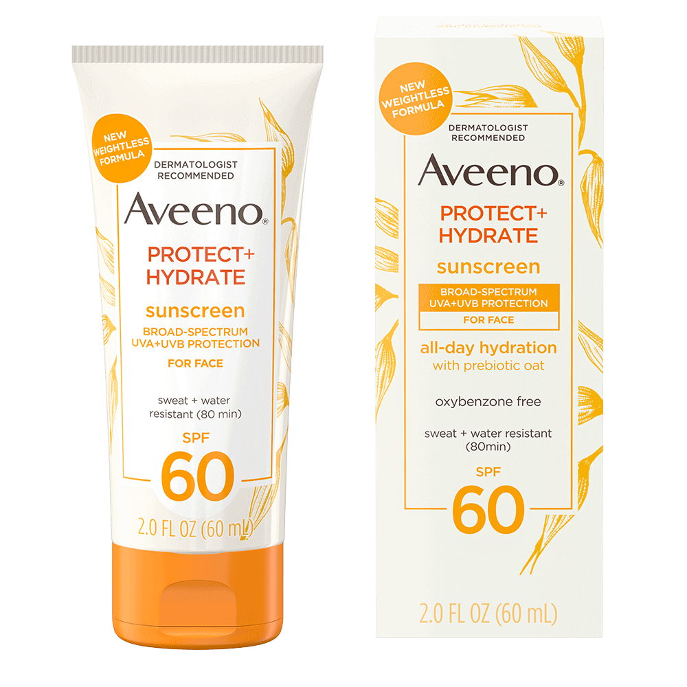 AVEENO® PROTECT + HYDRATE SUNSCREEN BROAD SPECTRUM FACE LOTION SPF 60