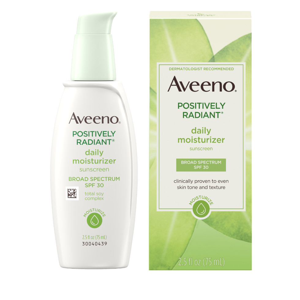 AVEENO POSITIVELY RADIANT® Daily Moisturizer SPF 30 with Soy