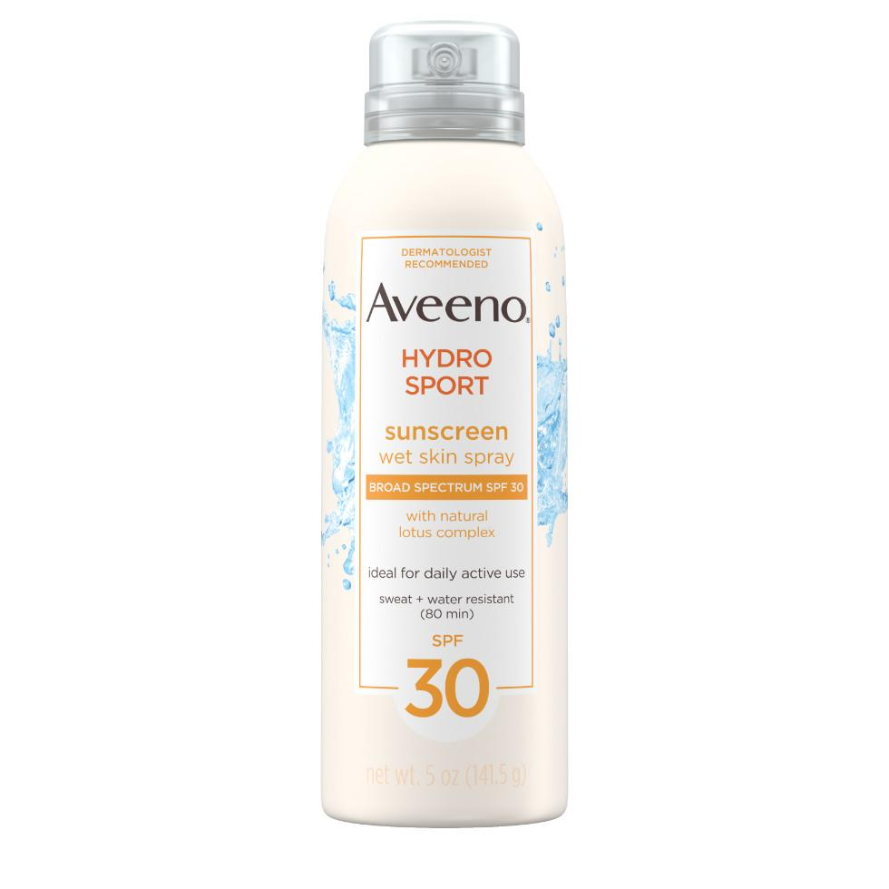 AVEENO HYDROSPORT® Wet Skin Spray Sunscreen with Broad Spectrum SPF 30